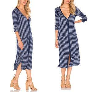 Splendid Alline Stripe Loose Knit Cardigan Dress